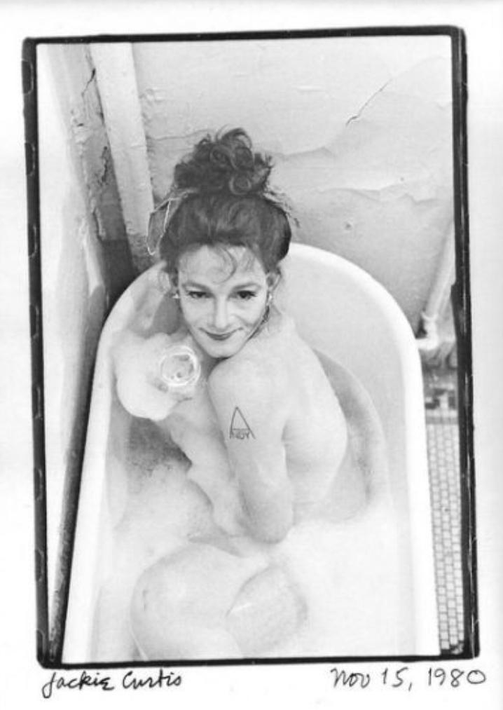 Jackie Curtis bathtub 1980